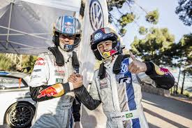Neymar Jr i Sebastien Ogier w VW Polo WRC