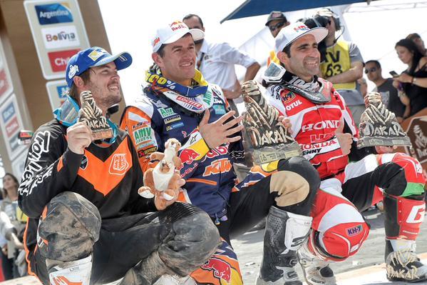 Rajd Dakar 2015 Marc Coma Paulo Gonçalves y Toby Price