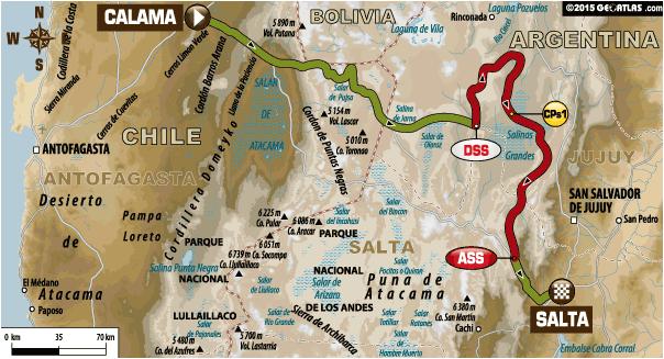 Rajd Dakar 2015 etap 10 auta
