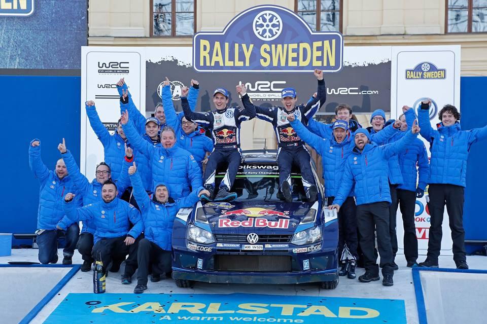 Zwycięsca Rajd Szwecji Ogier/Ingrassia
