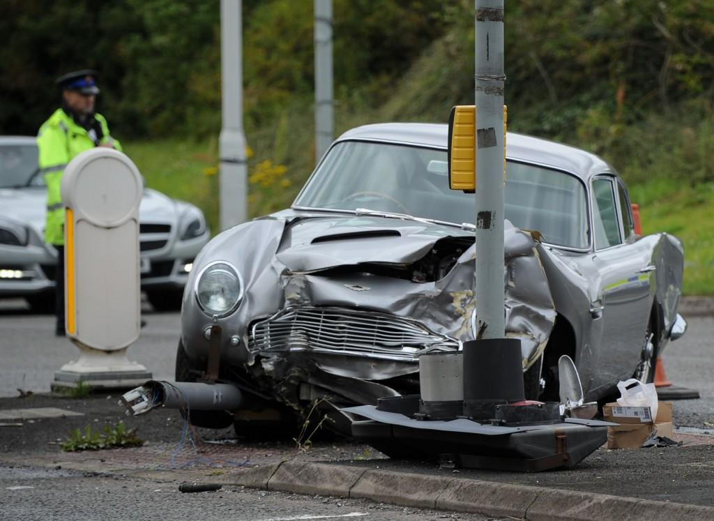 Wypadek z udziałem Aston Martin DB5