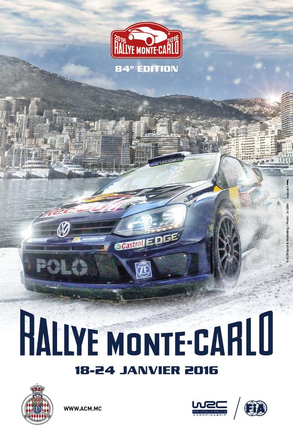 Rajd Monte Carlo 2016 - oficjalny plakat.