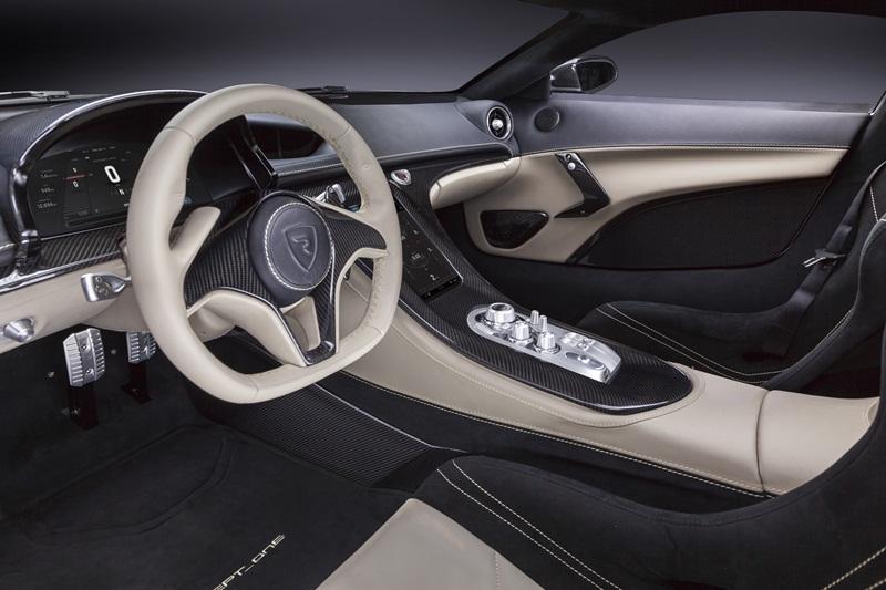 Rimac Concept One wnętrze chorwackiego samochodu