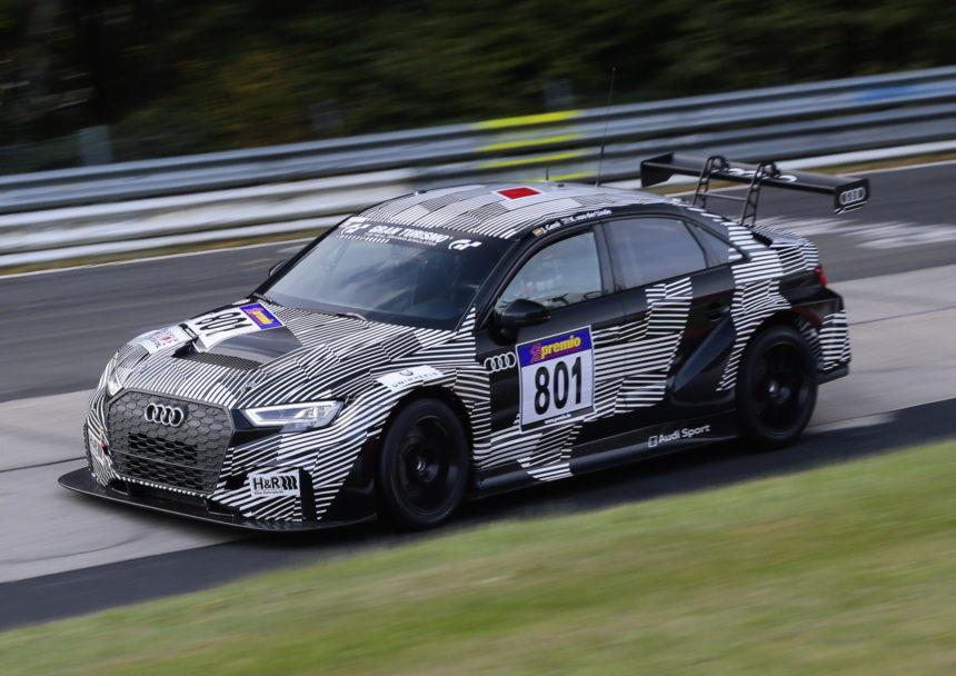 Udany debiut Audi RS3 LMS na torze Nurburgring