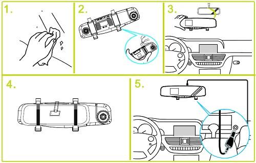 DOD RX400W montaż videorejestratora