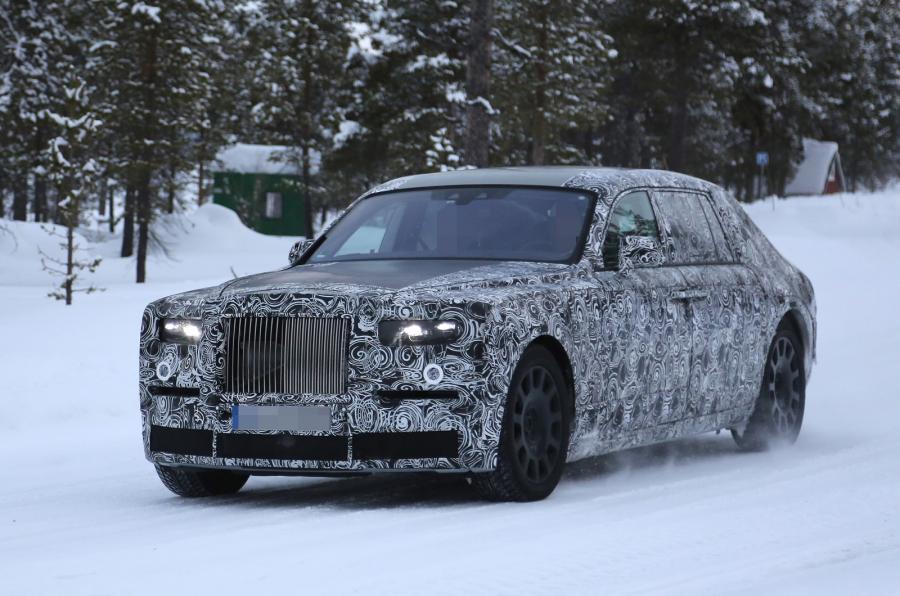Rolls-Royce Phantom zauważony w czasie testów