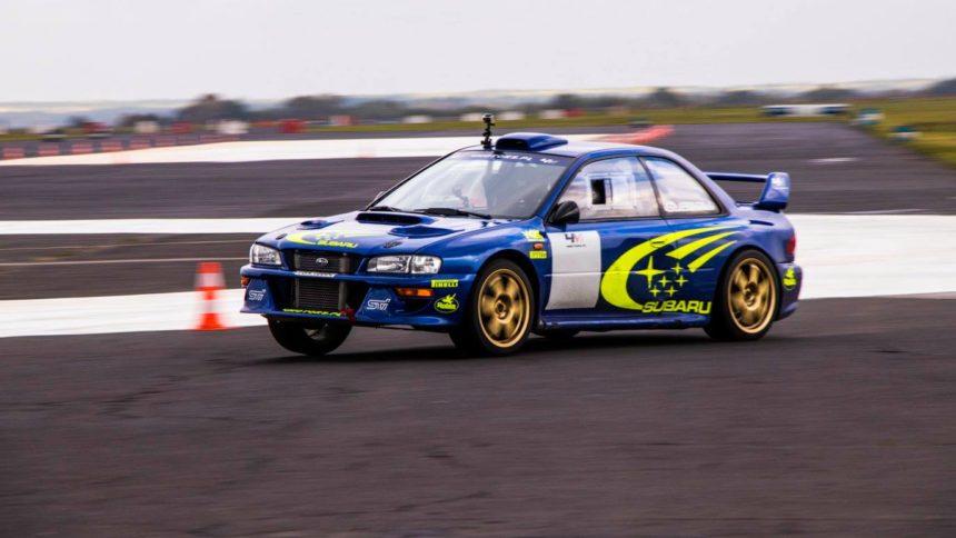 Miko Marczyk w Subaru Impreza 22b na Rajd Barbórka