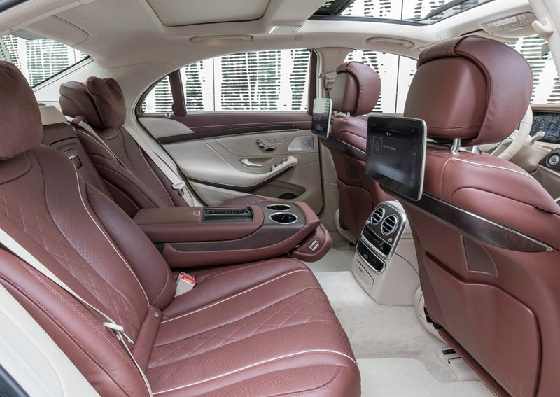 luksusowa limuzyna - wnętrze Mercedes S-class