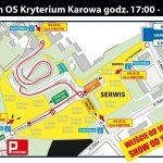 mapa trasy OS Karowa - Rajd Barbórka