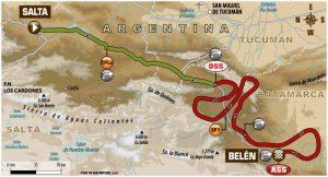 10 etap Rajdu Dakar mapa
