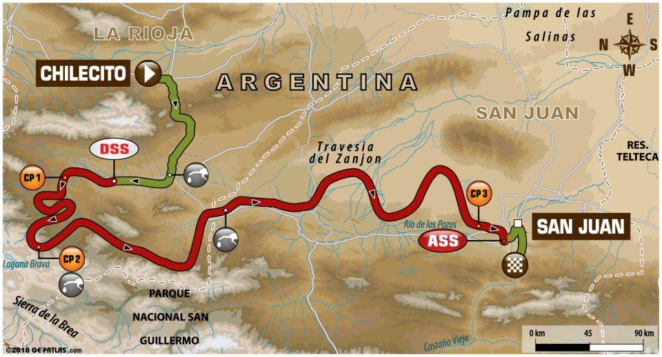 12 etap Rajdu Dakar 🇦🇷 Chilecito ➡️  🇦🇷 San Juan