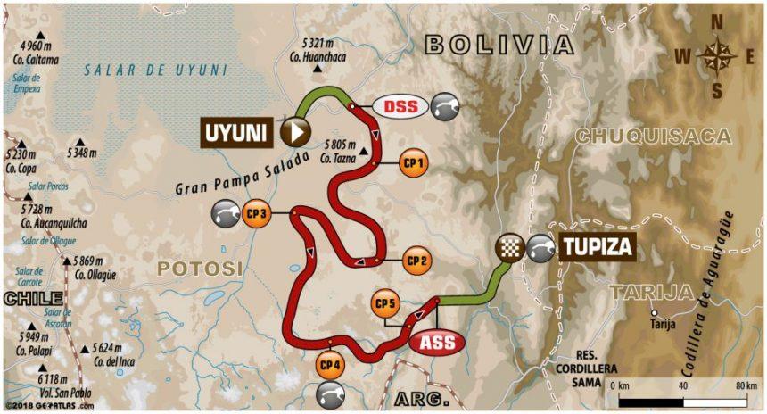 7 i 8 etap Rajdu Dakar mapa trasy
