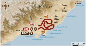etap drugi - Rajd Dakar 2018 - mapa odcinka specjalnego