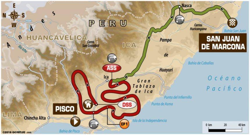trzeci etap Rajdu Dakar 2018 - mapa