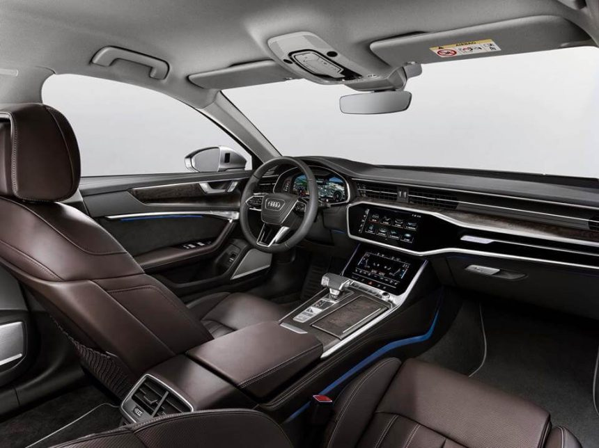 Nowe Audi A6 2018 wnętrze kokpit