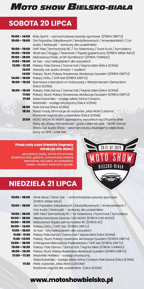 harmonogram moto show Bielsko-Biała 2019