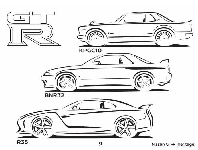Nissan Fairlady i GT R w kolorowance