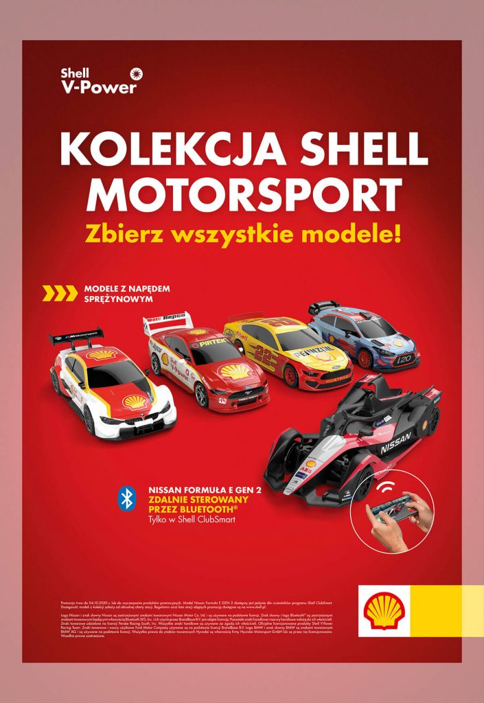 Kolekcja modeli Shell motosport